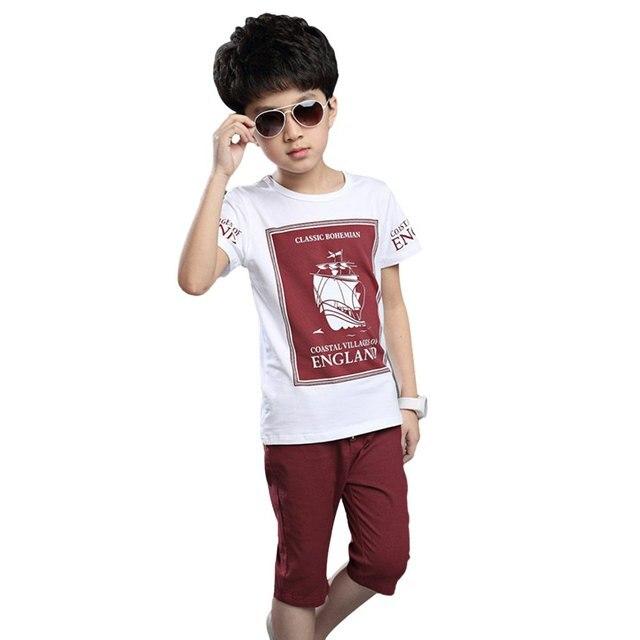 2017 Summer Kids Clothes Sets Fashion Boys Short Sleeve T Shirt +Shorts Sets Children Boys Clothing Set Boys Sport Suit Outfit