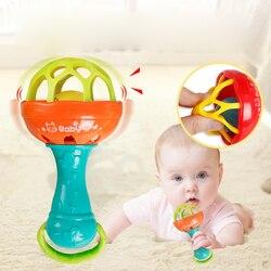 1 stück Rasseln Entwickeln Baby Intelligenz Greifen Zahnfleisch Kunststoff Hand Glocke Rassel Lustige Pädagogisches Handys Spielzeug Weihnachten Geburtstag Geschenke