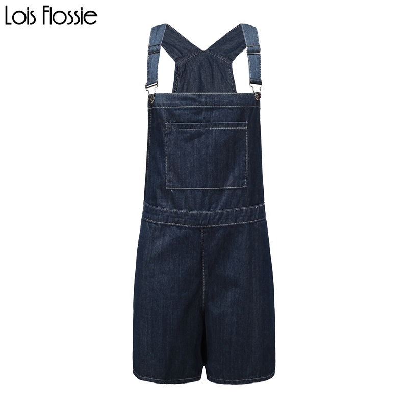 plus size dark blue denim suspender overall shorts for women ladies casual basic loose oversized dungaree shorts with pockets
