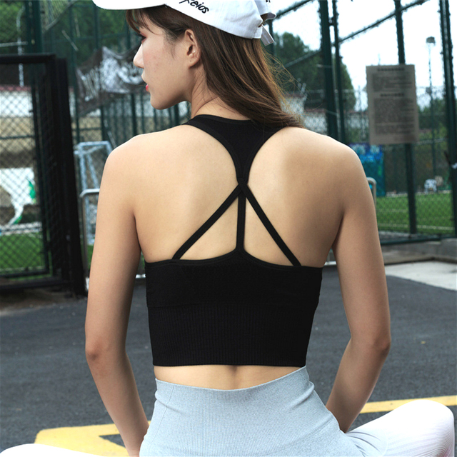 f3d973b6885 Sexy Women s Energy Seamless Sports Bra Workout Crop Vest for Fitness Yoga Running  Pad Cropped Top SportsWear Tank Tops No Wire