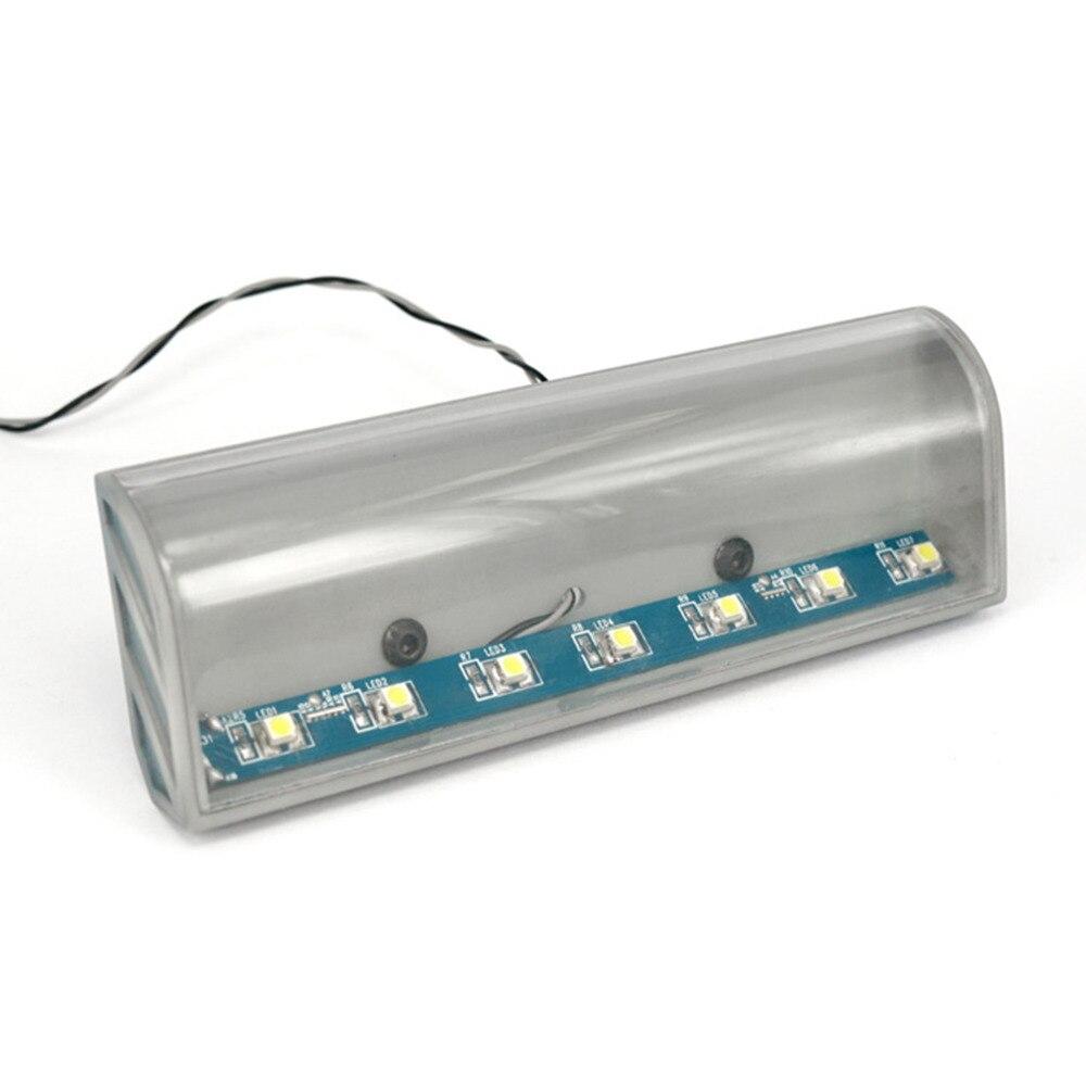 ABS CNC Roof High top Visor White Blue S 1230 LED BAR light for 1 14