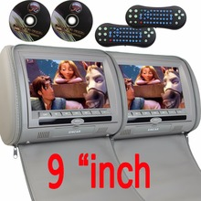 9″ inch Car Headrest neck pillow DVD Player Monitor Digital TFT Screen Headrest DVD Player FM USB With Game Disc car headset dvd