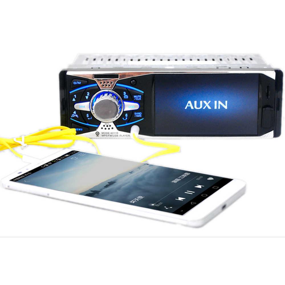 "+ USB SD AUX Head Unit 12V MP3/MP5/FM In-Dash รถวิทยุสเตอริโอ 1Din 4.1 ""TFT HD Mirror Link สำหรับ Android"