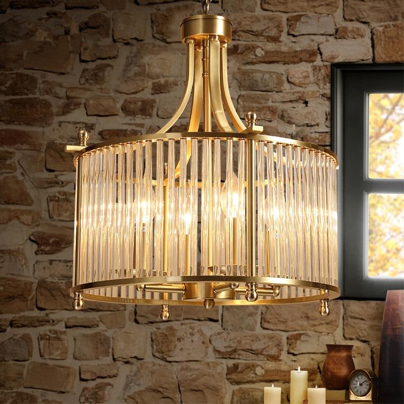 Amerikanischen Land Vintage Kreative Concise Kunst Stil Restaurant Pendelleuchte Schlafzimmer Caf Bar Wohnzimmer Kupfer Lampe