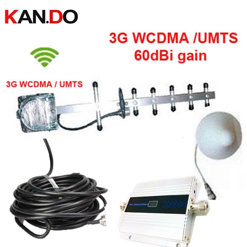 W/10 mètres câble et antenne yagi 3G gain 55dbi LCD fonction d'affichage travail 3G WCDMA répéteur de booster de téléphone portable