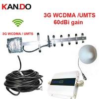 W/ 15 meters cable& yagi antenna 3G gain 55dbi LCD display function max.500 Sq meter work 3G WCDMA mobile phone booster repeater