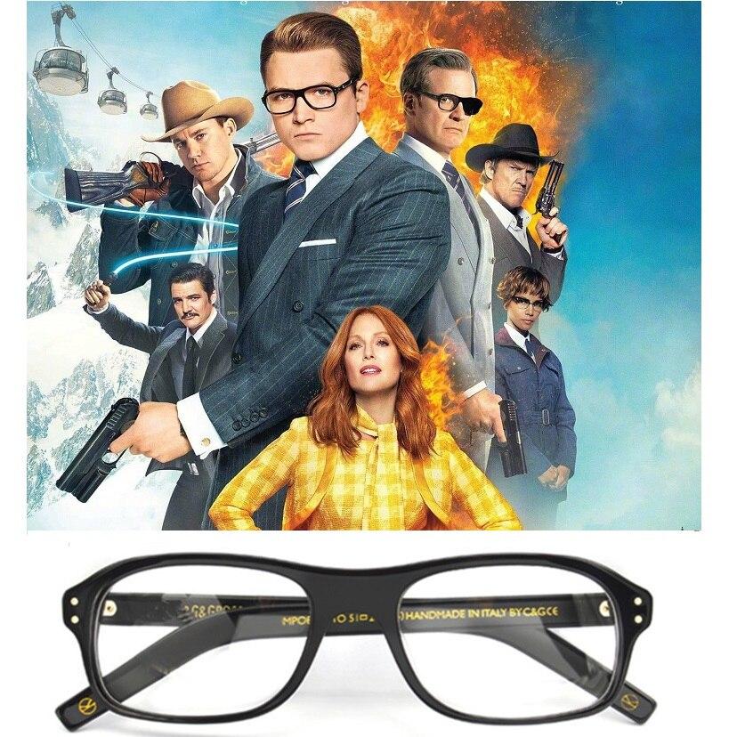 Cubojue Acetate Glasses Men Kingsman Custom Man Women Prescription Spectacles Minus/Diopter Optical 1.56/1.61/1.67 Index Lens