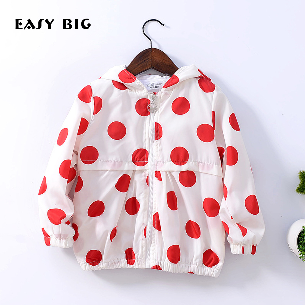 EASY BIG 2017 Spring Unisex Girls Boys Children s Jackets With Hat Girls Cute Wind Coats