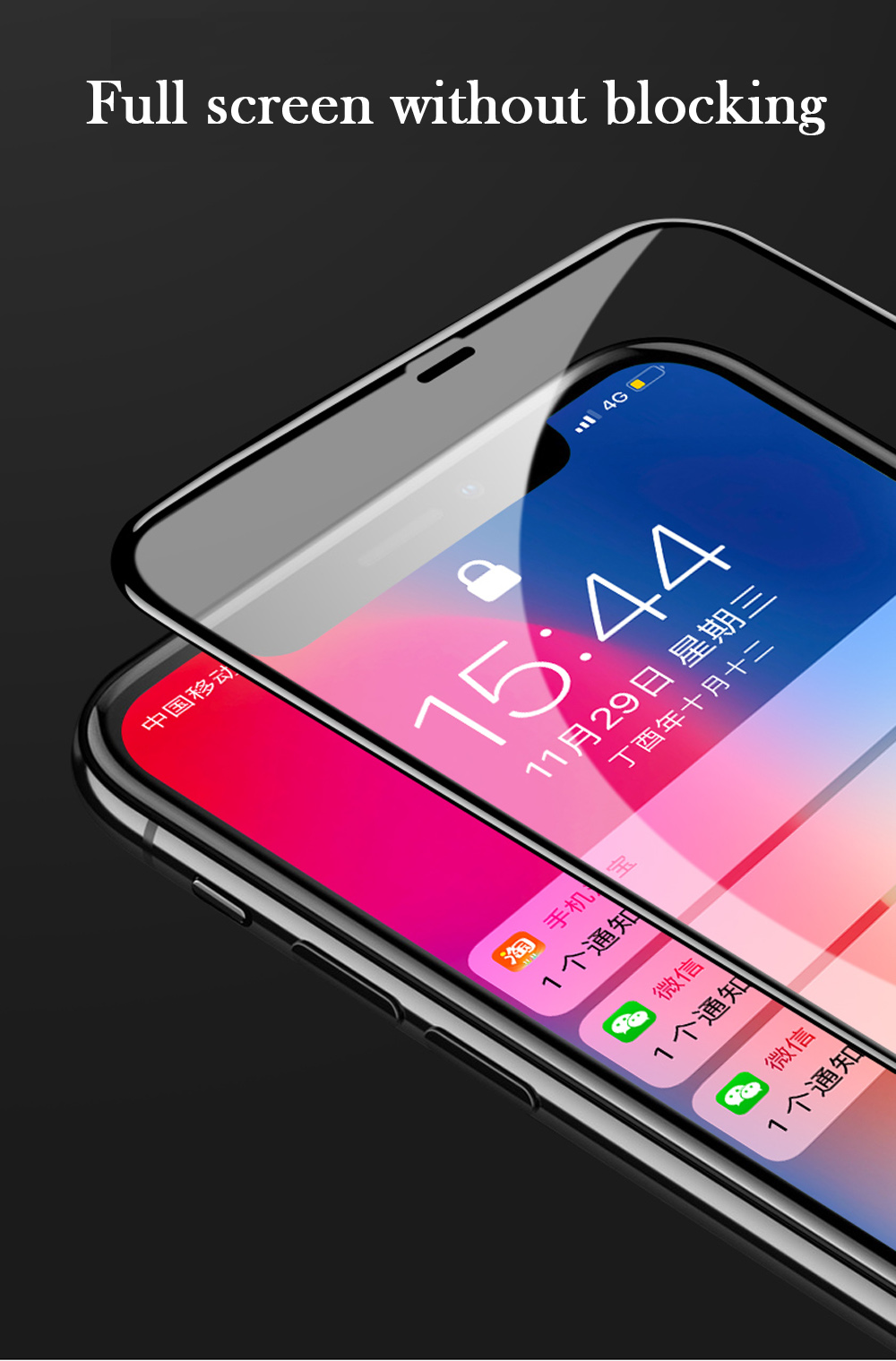 New 7D Screen Protector Curved Edge Full Cover Protective Glass For iphone X 8 7 6 Plus 9H Protective Glass white black Film  (10)