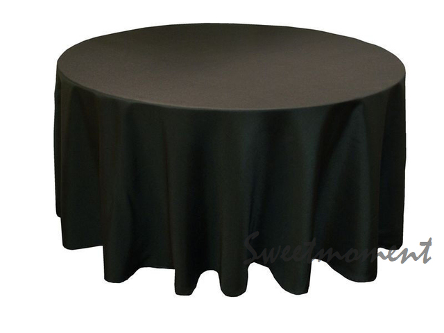 15 Black 100% Polyester Table Cloth In 108u0027u0027 Round Good Quality Tablecloths  For