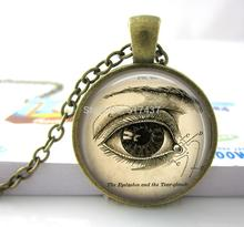 Anatomical Eye Necklace Eye Post Necklace Correct Eye Necklace Vintage Medical Illustration Science Jewelry Biology Jewelry