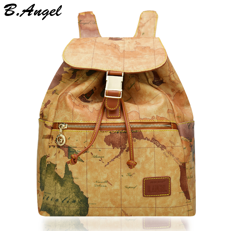High quality world map backpack special women backpack fashion high quality world map backpack special women backpack fashion leather backpack travel backpack in backpacks from luggage bags on aliexpress alibaba gumiabroncs Images