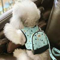 Luxury Pull Bag Dogs Collar And Harnesses With Leash Set Pet Running Lead Safety Fashion Cat Small Medium Backpack School Bags