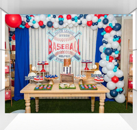 Baseball background for boys photography backdrops baby children birthday party decoration Photo stweet table cloth CZ 168