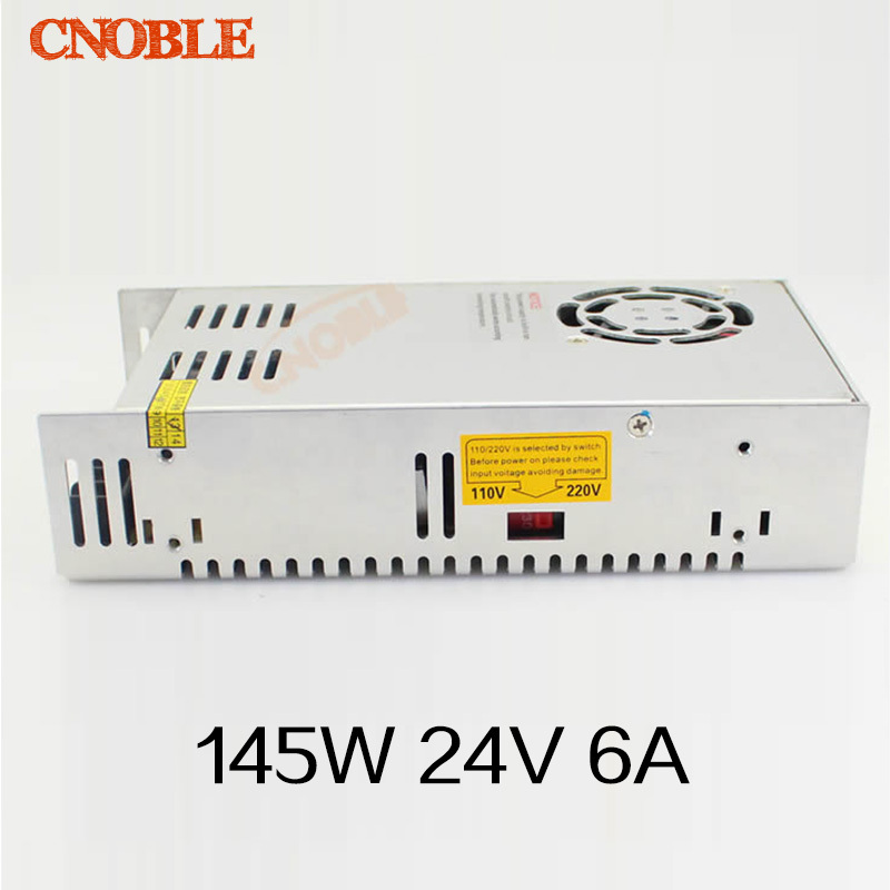 цена на 145W 24V 6A Single Output Switching power supply for LED Strip light AC to DC