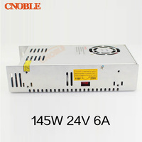 145W 24V 6A Single Output Switching power supply for LED Strip light AC to DC