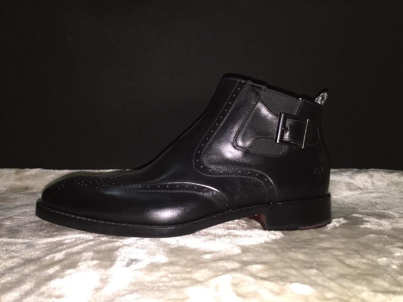 2016 luxus mens flache chelsea stiefel elegante ankle