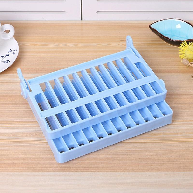 1 unid Cocina Plegable De Plástico Placa Plato Rack de Almacenamiento Plato Seca