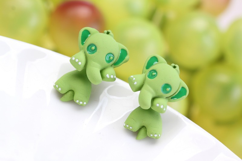 Colorful Elephant Earrings