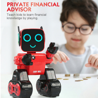 R4 RC Robots Multifunctional Voice Activated Intelligent Toy Gesture Control Robot Toys Money Coin Saving Bank Kids Gifts