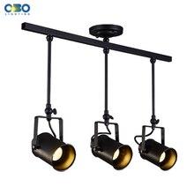 все цены на Vintage Ceiling Lights Clothing Store Spotlight Indoor Lighting Suspended Track Lamp E27 Lamp Holder 110-240V Free Shipping  онлайн