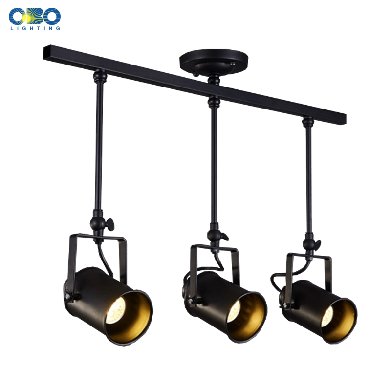 Vintage Ceiling Lights Clothing Store Indoor Lighting Suspended Track Lamp E27 Lamp Holder 110-240V Free Shipping