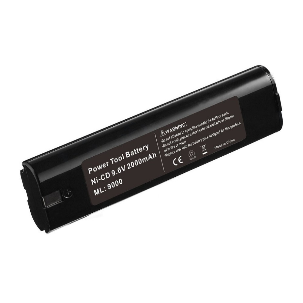 Universal 9.6V Power Tools Battery 2.0Ah/3.0Ah NI-CD/NI-MH Batteries ML9000 Suitable for Makita Durable Rechargeable Battery