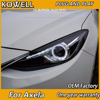KOWELL Car Styling for 2015 2017 Mazda 3 LED Headlights New Mazda3 Axela LED DRL Lens Double Beam H7 HID Xenon Car Accessories