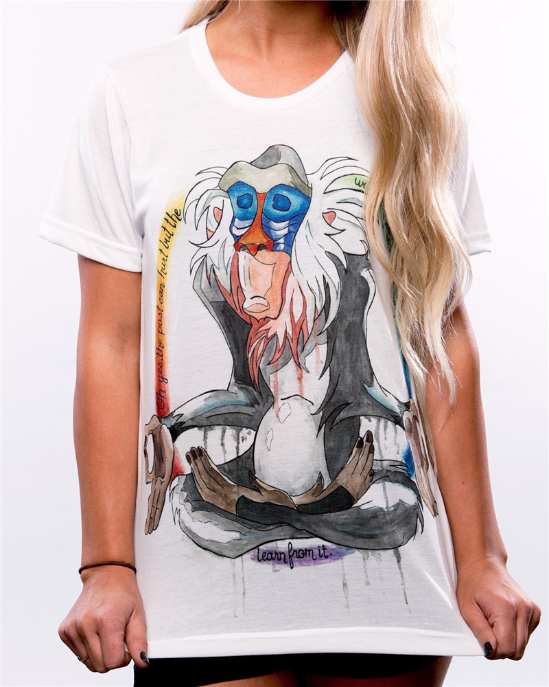 Buona Qualità T-Shirt di Moda Casual Manica Corta In Cotone Sveglio Materiale Semplice Facile Unisex