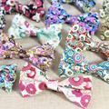 Homens Gravata borboleta de Algodão Flor Impressa Bowtie para Bowties Gravata do Noivo Do Casamento de Forma Magro Do Vintage