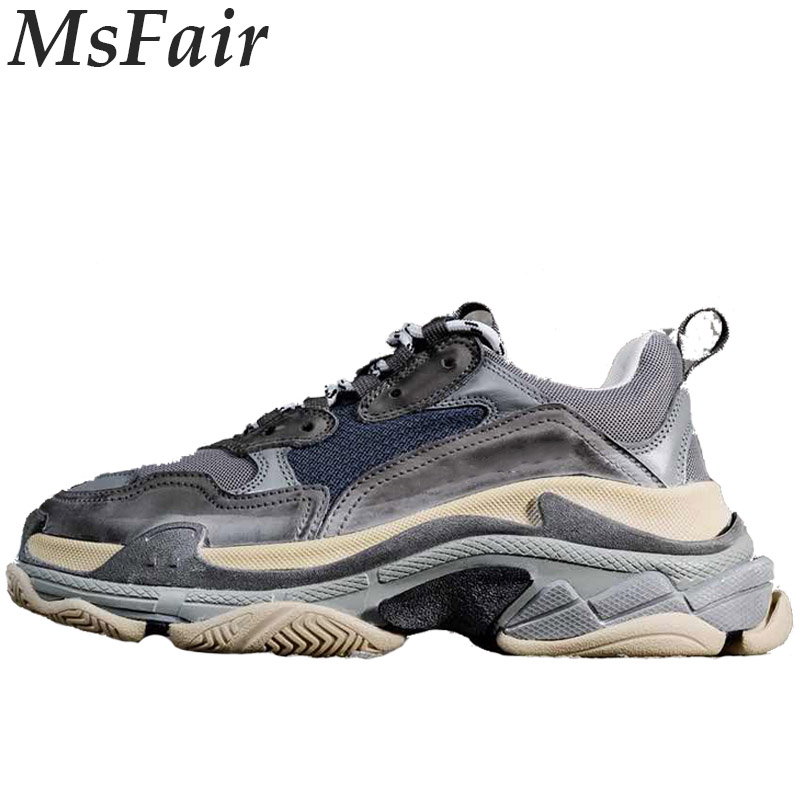 MSFAIR 2018 New Men Skateboarding Shoes Outdoor Athletic Walking Mesh Sport Shoes For Men Brand Men Sneakers Womens Sneakers dekesen new graffiti trendy sneakers shoes for men 100