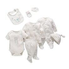 7 teile/satz zarte Babys neugeborene Baby mädchen jungen kleidung Weichen cartoon baumwolle baby kinder kleidung set komfortable infant kleidung