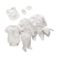 7 יח\סט מכרז תינוקות יילוד תינוקת ילד בגדים רך קריקטורה כותנה תינוק ילדי בגדי סט נוח תינוקות בגדים