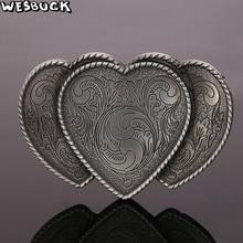 WesBuck Brand Heart-shaped Flower Buckles Meltal Cool Leaf Belt Buckles For Men's Belt Buckle Western Belt Cowboy Cowgirl Buckle цена 2017