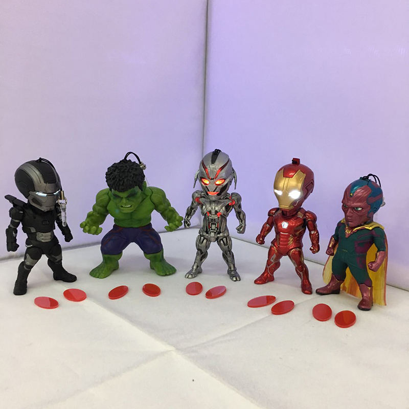Age of Ultron Iron Man 5pcs/set PVC Action Figure Collectible Model Toy 8-10cm KT3568 nendoroid naruto hatake kakashi for the man xiang pvc action figure collectible model toy 3pcs set 10 cm