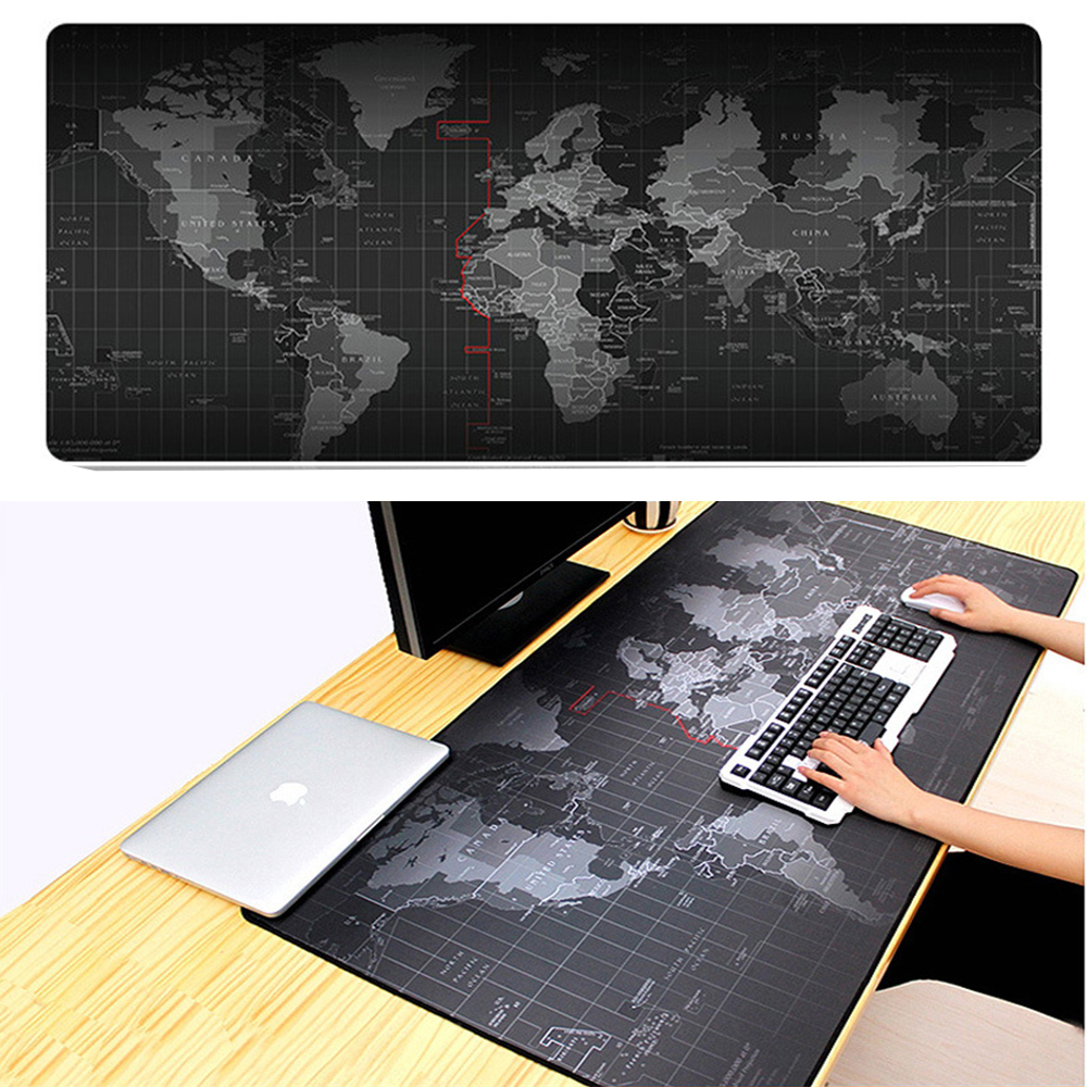 World Map Large Gaming Mouse Pad Mousepad Locking Edge For Laptop PC Anime Mousepad dota2 Mat for gamer