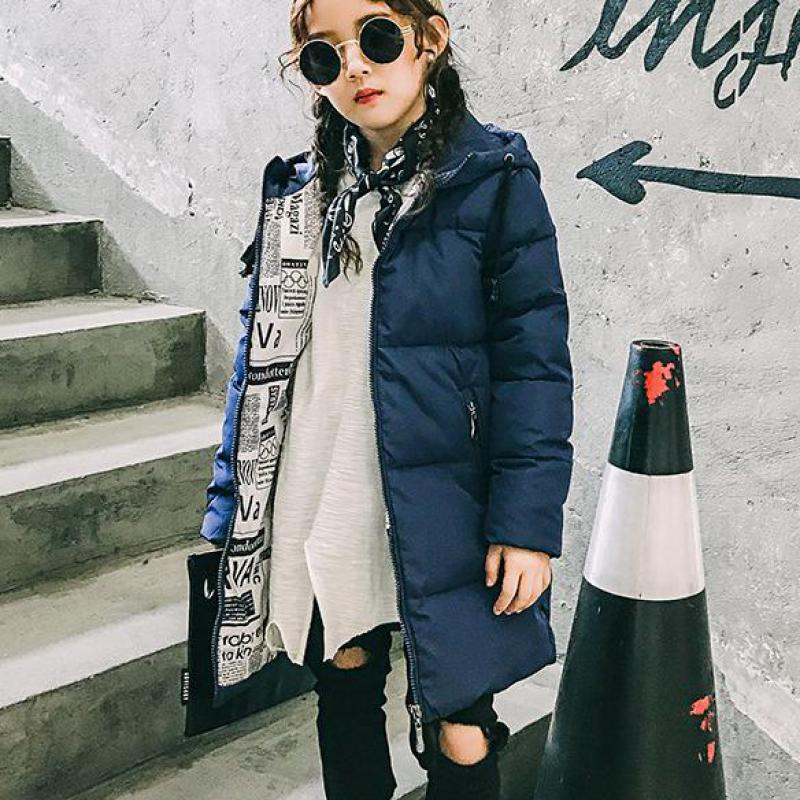 Girls Jackets & Coats 2017 New Arrivals Fashion Hooded Thick Warm Parka Down Kids Clothes Cotton Children Clothing Outwear Sale boy winter coats hot sales children clothing thickening hooded cotton jackets fashion warm baby boy coats clothes outerwear kids
