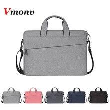 Vmonv sac à manches en Nylon souple pour ordinateur portable, Macbook Air Pro Retina, Notebook 13 14 15 pouces, à bandoulière, tablette PC