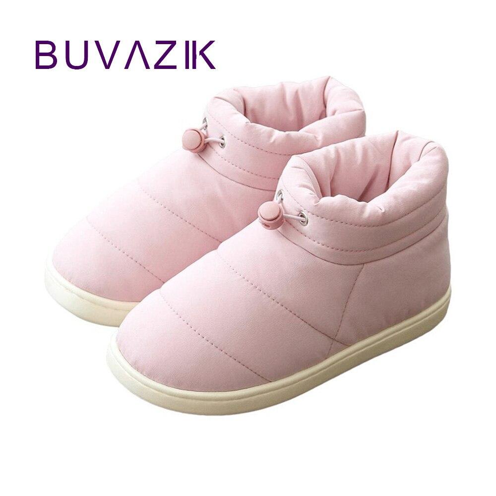 2018 mulheres botas de neve à prova dwaterproof água calzado mujer inverno sapato feminino botas de tornozelo quente sapatos ao ar livre cores misturadas