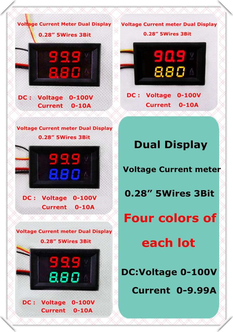 1 Meter Wire Current : Aliexpress buy rd digital ammeter voltmeter amp