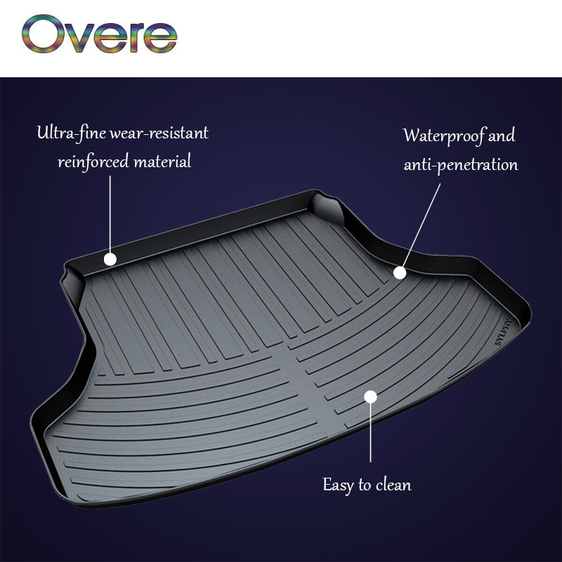 Overe 1Set Car Cargo rear trunk mat For Nissan Sylphy B17 X-trail T31 T32 Tiida Teana J32 L33 Qashqai Anti-slip mat Boot Liner цены