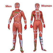 Для мужчин женщин Дети игры косплэй костюм Merry Marauder имбирь наводчик Zentai боди комбинезоны Хэллоуин