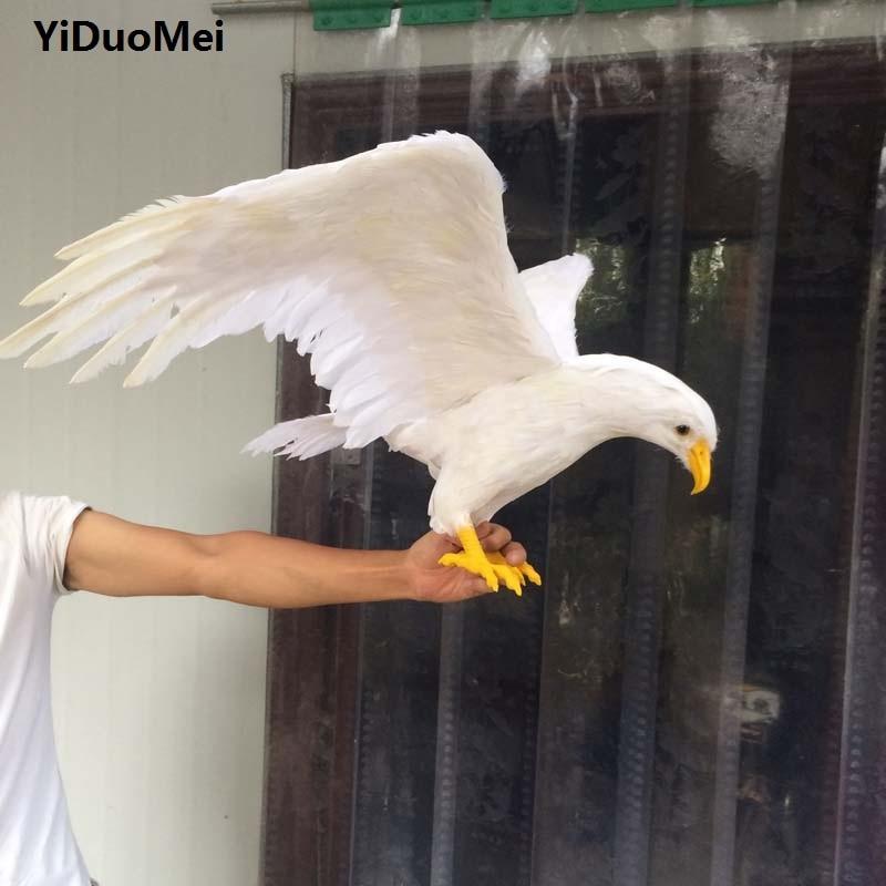 Mousse et plumes blanc aigle grand 100x50 cm ailes d'épandage aigle artisanat prop jardin décoration cadeau p0774