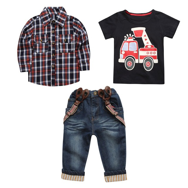 Baby Girl Summer Clothes Outfit Newborn Clothes Plaid Infant Clothing Print Kid Clothes Pants Newborn Clothing Baby Boy Set