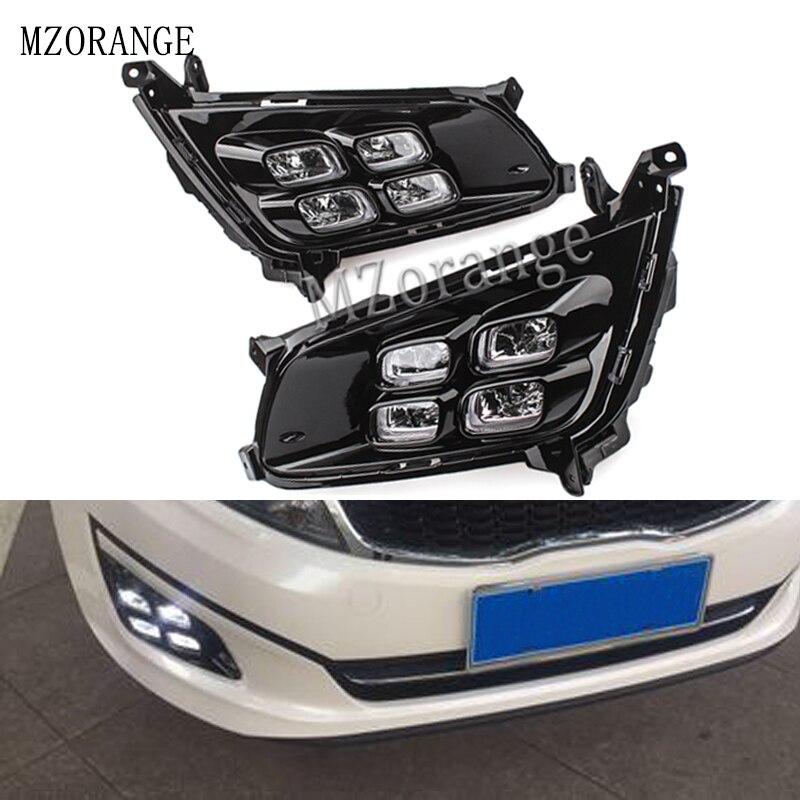MZORANGE LED Daytime Running Light For Kia Optima K5 2014 2015 2016 Car Accessories Waterproof ABS