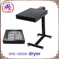 SPE Flash Dryer 1600W Screen Printing Equipment