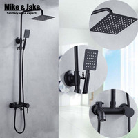 Bathroom Luxury black shower set mixer with shower black shower set bathroom Shower faucet Bathtub Faucet Sets