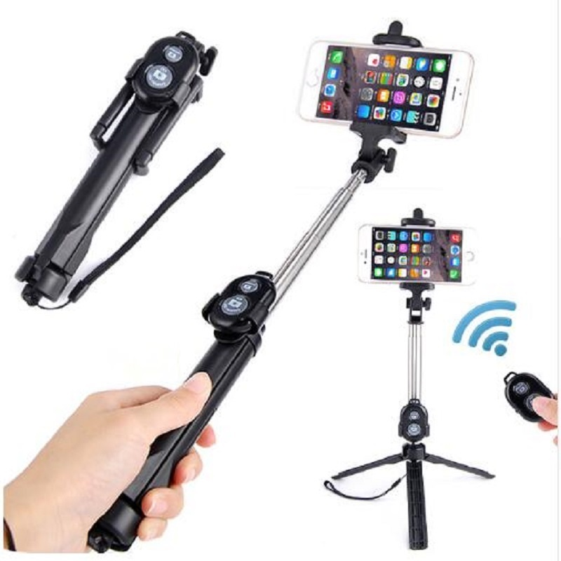 JOYTOP Phone Tripod Selfie Stick For iPhone Android For Samsung Xiaomi Huawei Remote Handheld Bluetooth Foldable Selfie stick