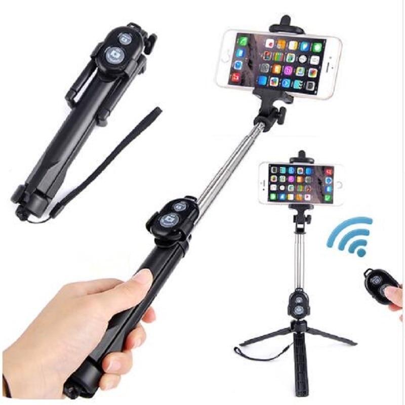 JOYTOP Telefone Tripé Selfie Vara Para iPhone Android Para Samsung Xiaomi Huawei Remoto Handheld Selfie vara Do Bluetooth Dobrável