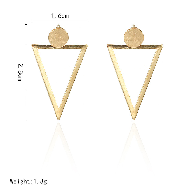 Simple Style Fashion Silver Gold Color Earrings for Women Square Round Geometric Hanging Earrings 18 Female Pendientes Jewelry 6